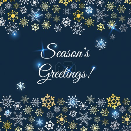 Greetings card with snowflakes. Vector Illustratio...