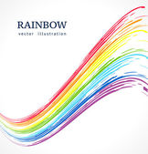 Abstract vector background with ink rainbow