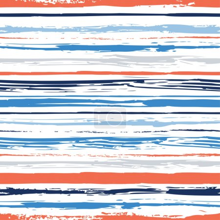 Colorful stripes seamless pattern. Abstract background with hand