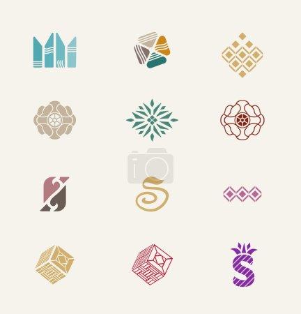 Stone icons set