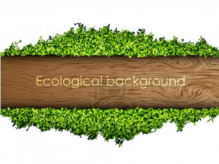 Illustration for Environmental background of the banner of grass and tree - Royalty Free Image