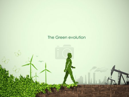 Illustration for The concept of clean, green energy - Royalty Free Image