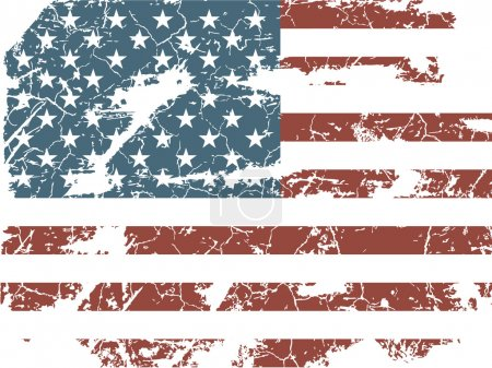 Illustration for Vintage American flag - Royalty Free Image