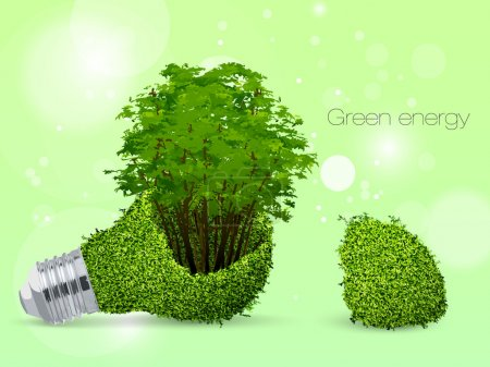 Illustration for The concept of clean energy on the planet - Royalty Free Image