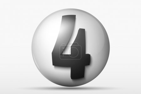 3D ball with the number