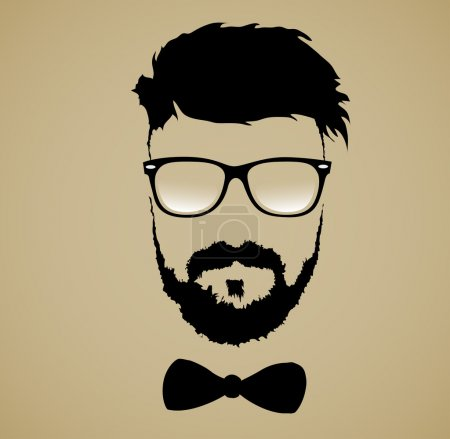 Illustration for Fashion silhouette hipster style - Royalty Free Image