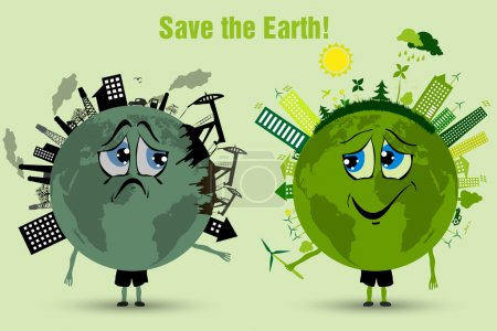 Conserve the earth. environmental pollution