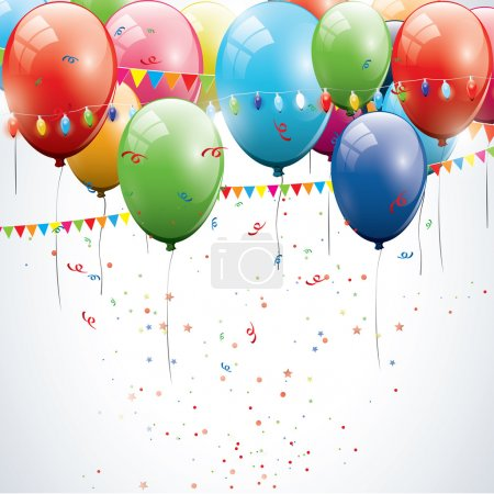 Photo for Colorful birthday balloons - Royalty Free Image