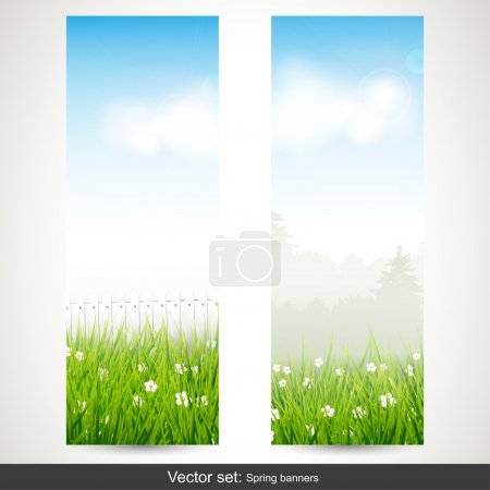 Spring vertical banners