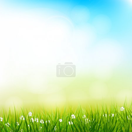 Illustration for Colorful spring vector background - Royalty Free Image