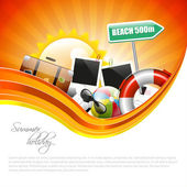 Summer holiday poster with copyspace