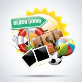 Summer holiday orange poster