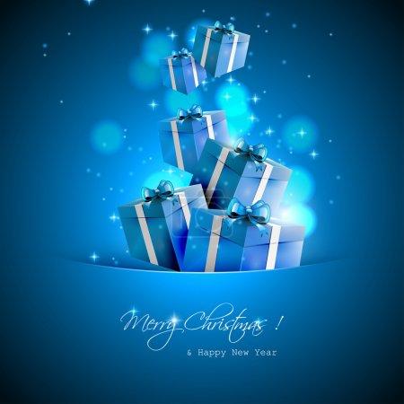 Illustration pour Cadeaux de Noël - fond vectoriel - image libre de droit