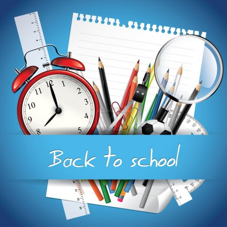 Illustration for Back to school background - Royalty Free Image