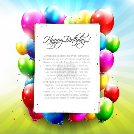 Colourful Birthday background