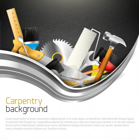 Modern carpentry background