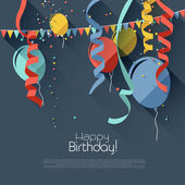 Modern birthday background in flat design styl