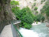 Panorama of saklikent gorge and waterfall fethiye turkey