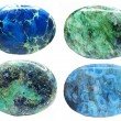 Semiprecious blue and green geological minerals cr...