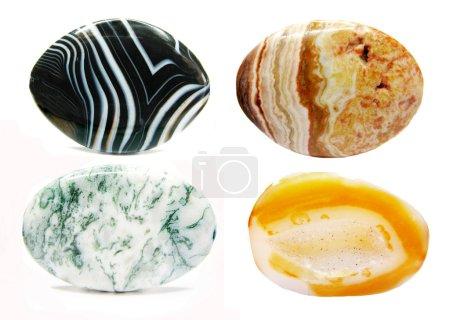 agate jasper carnelian geological crystal collage