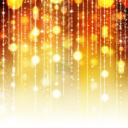 Photo for Golden Abstract Holiday background - Royalty Free Image