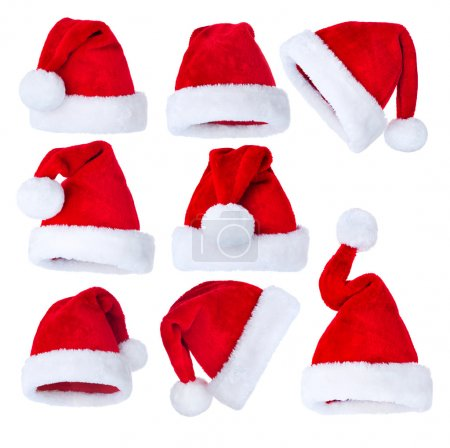 Santa's Hat set over white