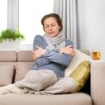 Sick Woman. Flu. Woman Caught Cold...