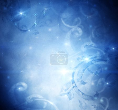 Christmas Holiday Blue Vintage Abstract Background