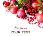 Vánoční a novoroční výzdoba a dekorace izolovaných na bílém