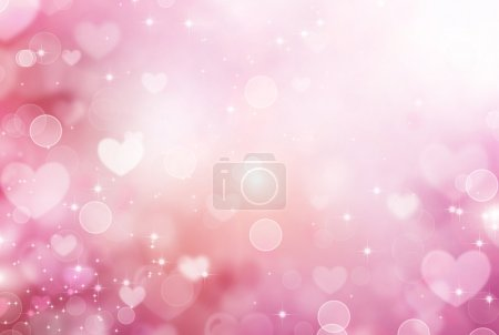 Valentine Hearts Abstract Pink Background. St.Vale...