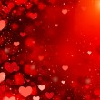 Valentine Hearts Abstract Red Background. St.Valen...