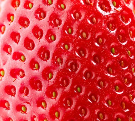 Strawberry Texture. Berry Background. Closeup Structure. Macro