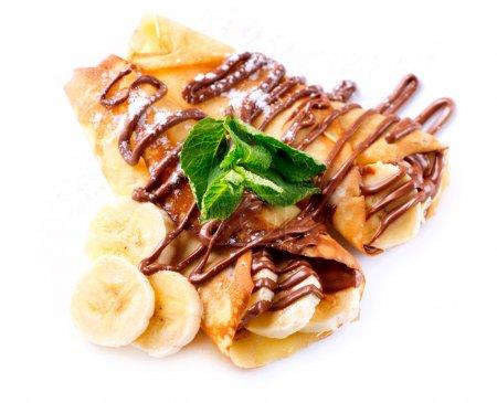 Crepes With Banana And Chocolate
