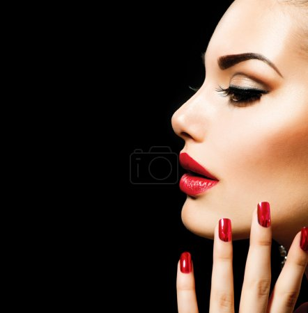 Photo for Beauty Woman with Perfect Makeup - Royalty Free Image