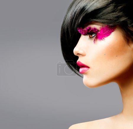 Fashion Brunette Model Portrait