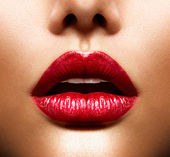 Sexy Lippen. Schönheit roten Lippen Make-up