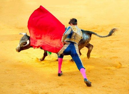 corrida. Matador combats dans une corrida espagnole typique