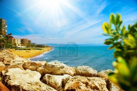 Torremolinos Panoramic View, Costa del Sol. Malaga, Spain