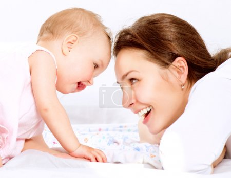 Photo for Mother and Baby. Happy Family - Royalty Free Image
