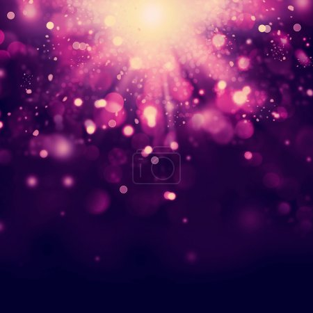 Photo for Violet Abstract Christmas background - Royalty Free Image