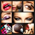 Makeup Collage. Professional Make-up Details. Make...