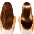 Before and After Damaged Hair Treatment...