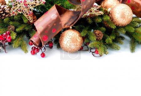 Photo pour Noël. décorations de nouvel an isolées sur fond blanc - image libre de droit