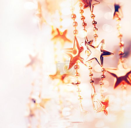 Photo for Christmas Holiday Abstract Background with Stars - Royalty Free Image