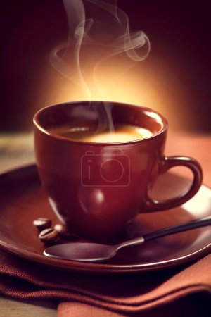 Photo for Coffee. Cup of Coffee closeup. Espresso - Royalty Free Image