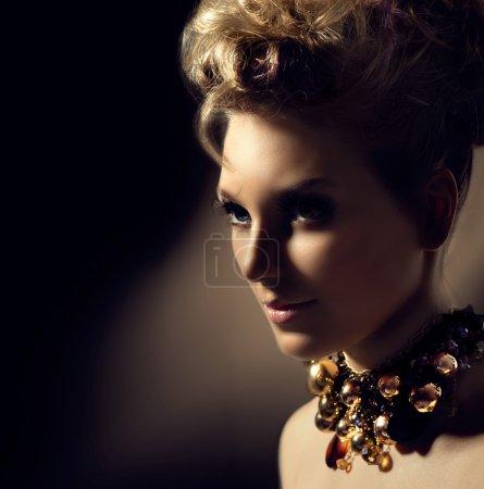 Model girl with  fashion makeup