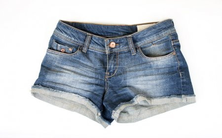 Photo for Women jeans shorts isolated on white background - Royalty Free Image
