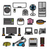 Electric appliances 01 vector file