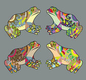 Frog with floral ornament decoration For tattoo t-shirt or any design you want to use