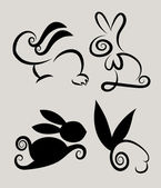 Rabbit Symbols 1 Vector